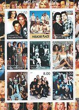 Melrose Place culto de los noventa Telenovela Tv Show estampillada sin montar o nunca montada SELLO Sheetlet