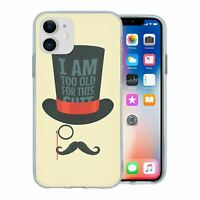 For Apple iPhone 11 Silicone Case Funny Sayings Moustache - S1162