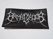 ARMAGEDDA LOGO BLACK METAL EMBROIDERED PATCH