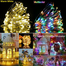 Christmas Lights Battery Powered Party Indoor Outdoor Copper Wire Fairy 100 LED