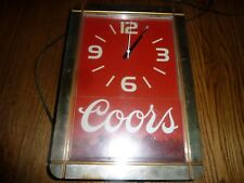 COORS BEER SIGN CLOCK LIGHT VINTAGE NON MOTION