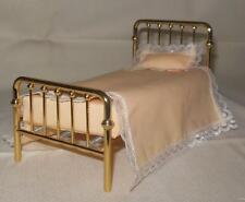 VINTAGE VICTORIAN BRASS BED #8017 DOLLHOUSE FURNITURE MINIATURES