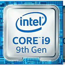 1 x Intel Core i9 9th blue Metallic sticker laptop and Desktop logos 18mm x 18mm