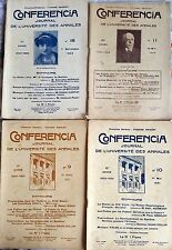 """Lot de 4 """"CONFERENCIA"""" Journal des Université des annales 1921 et 1926 Herriot E"""