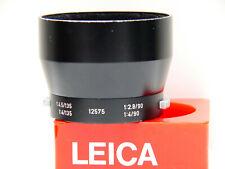 LEICA LENS HOOD 12575 - RARE ALL BLACK - LEITZ WETZLAR GERMANY.