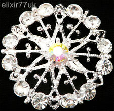 NEW BOUQUET FLOWER PIN BACK SILVER BROOCH VINTAGE LOT BRIDAL JEWELLERY SOLID JOB