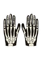 Gants taille unique enfant squelette fête Halloween effrayant accessoire déguisé
