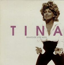 TINA TURNER WHATEVER YOU NEED CD SINGLE PROMO CARPETA CARTON ABIERTA