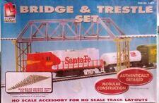 Ho scale Life- like Bridge & 28 piece Trestle set