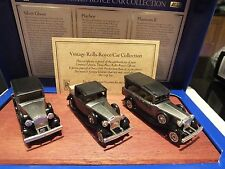 LLEDO VINTAGE ROLLS ROYCE CAR COLLECTION - ON WOODEN PLINTH -  LIMTED EDITION #2