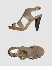 NEW  Just Cavalli women's taupe leather high heel sandals size 8 EU 38 $290