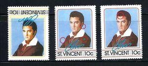 ST VINCENT, Elvis Presley, INVERTED CENTER & FAULT PRINT, ERROR