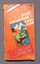 Nouveau Guide touristique de la Cote d'Azur, Guide Touristique France 1938