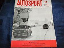 Rally RAC GB 1958 Peter Harper Sunbeam Estoque Pat Moss Ann sabiduría Morris Minor