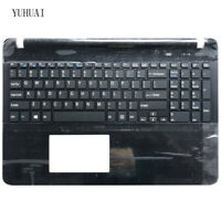 For sony Vaio SVF152A29M SVF15A1M2ES SVF152a29u US keyboard black Palmrest Cover