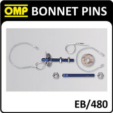 EB/480 OMP RACING BONNET PINS SMALL PIN STAINLESS STEEL M10 ALUMINIUM BLUE