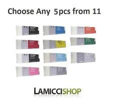 5 Color selection Epson Stylus Pro 7890 9890 Compatible Cartridges 700ml Pigment
