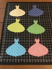 "Scrapbooking Die cut Assorted Dress  Shapes "" X 6"