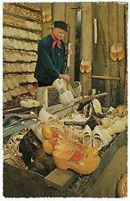 Dutch Clogmaker at work, Aalsmeer, Postmarked 1960, 25c Netherlands stamp