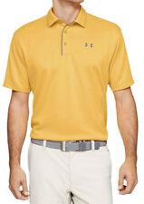 New Mens Under Armour Heat Gear Orange Loose Fit Short Sleeve Golf Polo Shirt S