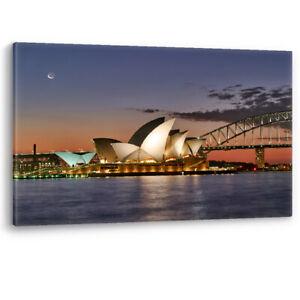 Sydney Opera House Harbour Bridge Australia Canvas Wall Art Picture Print Harbor