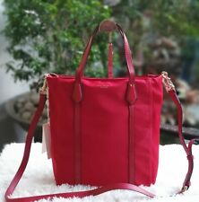Tory Burch Perry North/South Nylon Tote Bag - Red