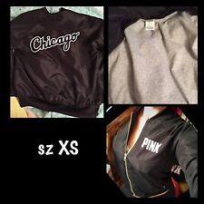 Victoria's secret PINK jacket black Chicago Bomber Jacket RARE