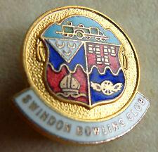 SWINDON BOWLING CLUB ENAMEL BADGE