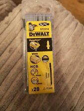 DEWALT DT2214QZ Jigsaw Lame per legno (HCS) T144D - 20pk NUOVO