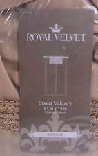 Royal Velvet Supreme Insert Valance 41x15in  Gold Home Window Treatment Decor