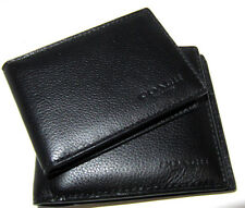 Coach Men's Compact ID Sport Calf  Black Leather Wallet F74991 NWT $ 175