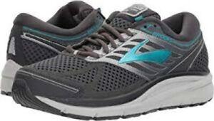 Brooks Addiction 13 Women's Running Shoe Ebony/Silver/Pagoda Blue Size 6 B NEW!!