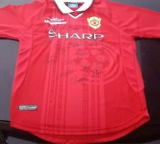 Exclusive Champion League Winners 1999 Manchester United Full Team Signed Jersey