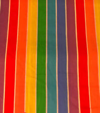 New listing Vintage Retro Rainbow Fabric Striped Bolt 9.4 Yards sheets Curtains Tablecloth