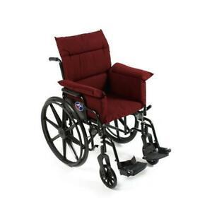 Care Apparel 207-0-BUR Total Chair & Wheel Chair Cushion Burgundy