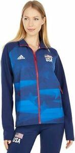 NWT Adidas Women's XL USA Volleyball Warm Up Full Zip Track Jacket FK1034
