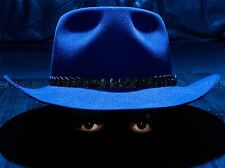 SPOOKY FEDORA EYES MAN BLUE HAT PHOTO ART PRINT POSTER PICTURE BMP124A