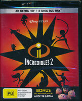 Incredibles 2 4K Ultra HD + 2 Disc Blu-ray NEW Region B