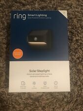Ring Solar Steplight -- Outdoor Motion-Sensor Security Light, Black