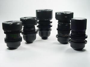4K PL mount Set of fullframe lenses 37 50 58 85 135 Arriflex Arri BMP + F.F.Gear