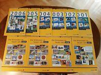 Jahreskalender Sammlung Deutsche Post von 2001-2009 ( 2009 doppelt vorhanden)