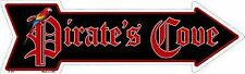 """Pirate's Cove Novelty Metal Arrow Sign 17"""" x 5"""" Wall Decor"""
