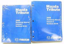 "'2009 MAZDA TRIBUTE FACTORY OEM SHOP Service Workshop MANUAL 2 Books ""SEALED"""