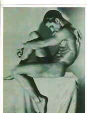 Bodybuilder Male Model  TONY SANSONE Bodybuilding Muscle Photo B+W