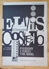 Elvis Costello Attractions everyday 1983 press advert Full page 39 x 28cm poster