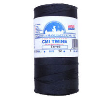 Catahoula No 12 Tarred Twisted Bank Line 1 lb Spool 1580 ft Nylon Twine