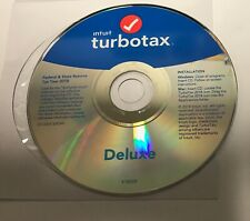 intuit Turbotax - Deluxe - Federal & State - 2018 - CD IN SLEEVE