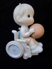 Precious Moments Give Ability A Chance 192368 Wheelchair Basketball w/ Box