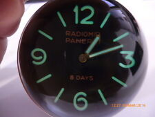 Homage Panerai Radiomir Handwound Mechanical Desk / Table top Clock! All steel!
