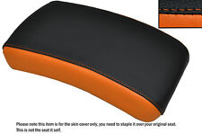 BLACK & ORANGE CUSTOM FITS YAMAHA XVS 650 DRAGSTAR REAR LEATHER SEAT COVER
